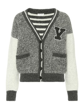 wool-varsity-cardigan by saint-laurent