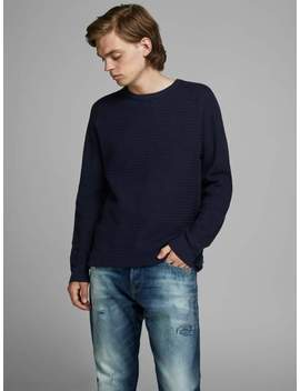 Sweater With Contrast Fabric by Jack & Jones