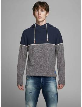 Colourblock Knit Hoodie by Jack & Jones