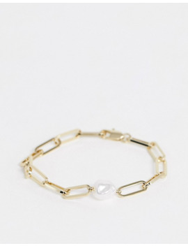 &-other-stories-pearl-and-chain-bracelet-in-gold by &-other-stories