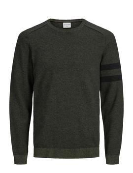 Melange Sweater With Stripes by Jack & Jones