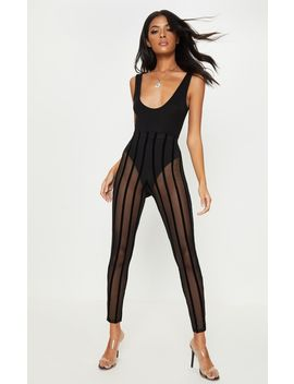 black-mesh-stripe-legging by prettylittlething