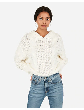 cozy-cable-knit-hooded-sweater by express