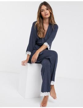 dorina-cordelia-modal-and-lace-robe-in-grey by dorina