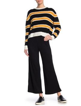 elastic-waist-wide-leg-pants by double-zero