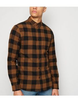 rust-check-long-sleeve-shirt by new-look