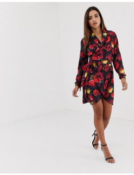 club-l-floral-wrap-dress by club-l