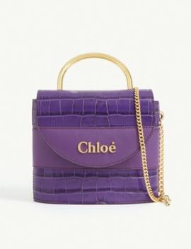 small-aby-lock-croc-embossed-leather-bag by chloe