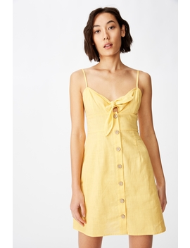 tie-front-button-through-dress by cotton-on