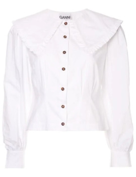 peasant-collar-blouse by ganni
