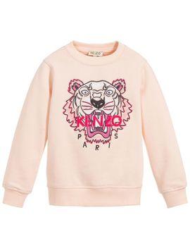 girls-pink-tiger-sweatshirt by kenzo-kids