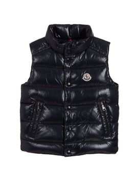 boys-blue-down-padded-gilet by moncler-enfant