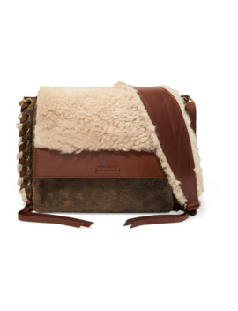 fleyn-shearling-and-leather-shoulder-bag by isabel-marant