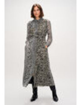 Long Double Layer Leopard Print Dress by Claudie Pierlot