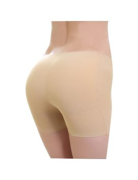 Seamless Hip Lifting Butt Padding Mid Rise Shapewear Shorts by Newchic