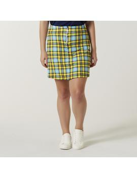 Joe Boxer Juniors' Plus Zipper Miniskirt   Plaid by Joe Boxer