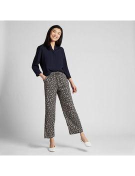 women-drape-straight-pants-(small-flower) by uniqlo