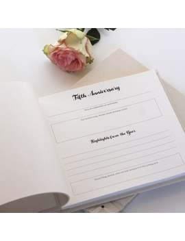 """anniversary-journal-with-""""champagne-silk""""-cover by etsy"""