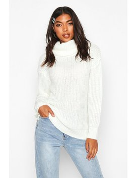 tall-oversized-roll-neck-jumper by boohoo