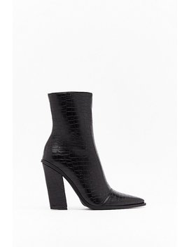 crocodile-tears-faux-leather-ankle-boots by nasty-gal