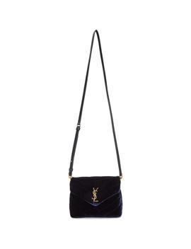 navy-toy-velvet-loulou-bag by saint-laurent