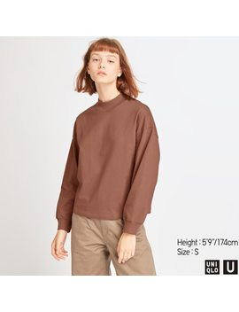 damen-u-langarmshirt-mit-stehkragen by uniqlo