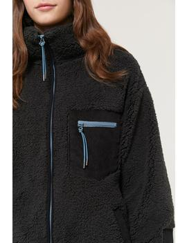 uo-georgia-fleece-zip-front-jacket by urban-outfitters