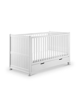 babylo-hampton-cot-bed-(white) by preciouslittleone