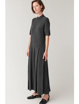 boiled-wool-kilt-dress by cos