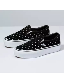 suede-polka-dot-slip-on-platform by vans