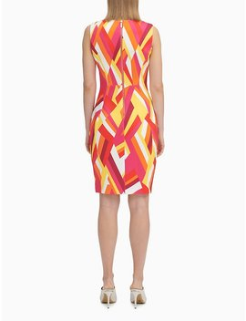 printed-scuba-sleeveless-sheath-dress by calvin-klein