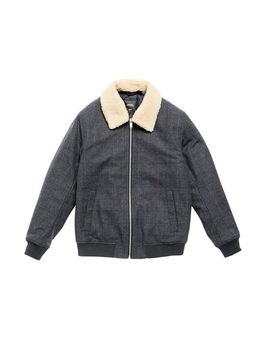 grey-light-check-faux-wool-bomber-jacket by burton