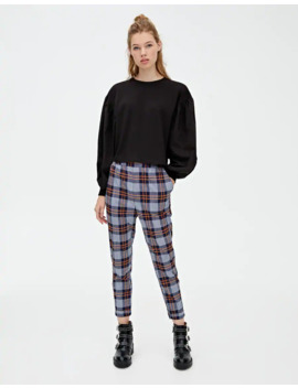 checked-trousers-with-turn-up-hems by pull-&-bear
