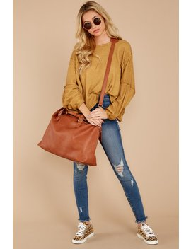 lets-be-casual-goldenrod-waffle-knit-top by mustard-seed