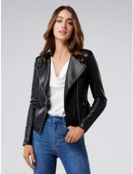 nina-collarless-biker-jacket by forever-new