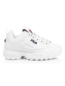disruptor-ii-premium-leather-sneakers by fila