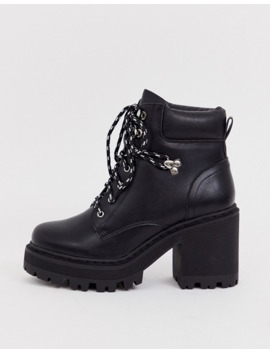 truffle-collection-wide-fit-chunky-hiker-boots-boots-in-black by asos