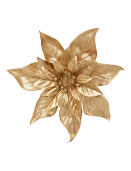 luxe-gold-tone-poinsettia-clip-on-ornament by myer-giftorium