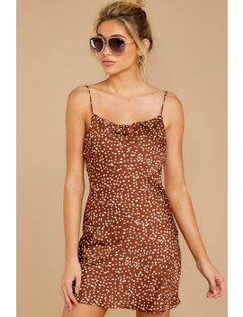 unrivaled-style-mocha-brown-print-dress by cotton-candy
