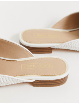 river-island-sliders-with-tassel-detail-in-white by river-island