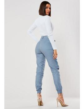 grey-3d-pocket-cargo-trousers by missguided
