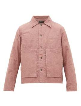 embroidered-puckered-canvas-jacket by craig-green