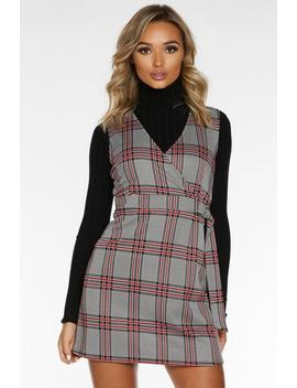 black-white-and-red-check-pinafore by quiz