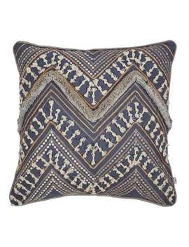 mancora-slate-grey-embroidered-cushion by dunelm