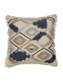 farha-slate-grey-embroidered-cushion by dunelm