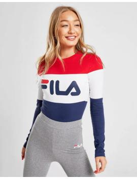 fila-colourblock-long-sleeve-bodysuit by fila