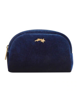 skinnydip-navy-velvet-make-up-bag by superdrug
