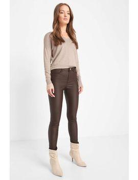 woskowane-spodnie-skinny by orsay