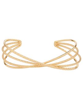 skinny-wire-cross-cuff by accessorize