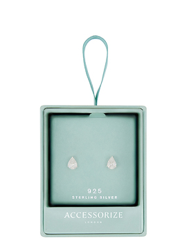 sterling-silver-heart-cut-solitaire-earrings by accessorize